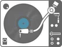 电唱机被隔绝的唱片 库存照片