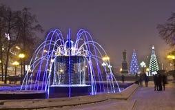 电喷泉莫斯科 图库摄影