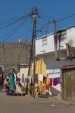 电在圣路易,塞内加尔,非洲 免版税库存照片