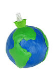 电地球闪亮指示 免版税库存照片