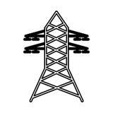 电塔被隔绝的象 库存照片