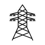电塔被隔绝的象 库存图片