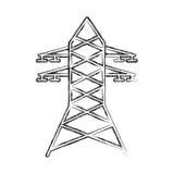 电塔被隔绝的象 免版税库存照片