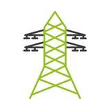 电塔被隔绝的象 免版税图库摄影