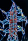 电塔高压岗位的分数维图片 皇族释放例证