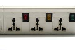电多个电器插座 免版税库存照片