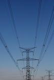 电子与氢结合的次幂塔 免版税库存照片