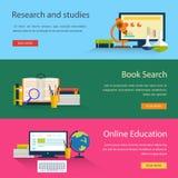 电子书查寻和网上教育,研究 库存例证
