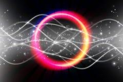 电子五颜六色的发光的圆环 库存例证
