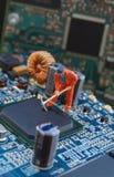 电子修理车间 库存照片