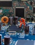 电子修理车间 库存图片