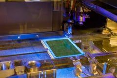 电子元件的生产在高科技的 免版税库存照片