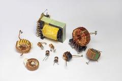 电子元件:有超环面核心的感应器, 库存照片