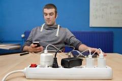 电子充电器 免版税图库摄影