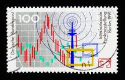 电子公平的柏林,国际电台陈列,柏林 图库摄影