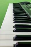 电子关键字钢琴 免版税库存图片