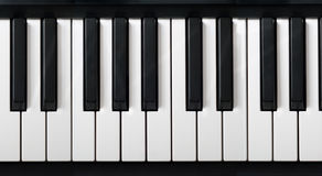 电子关键董事会钢琴 免版税图库摄影
