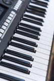 电子关键董事会钢琴 免版税库存图片