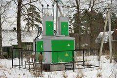 电子分站变压器 库存照片
