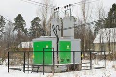 电子分站变压器 库存图片