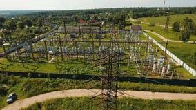 电子分站,发电站 鸟瞰图 股票视频