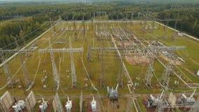 电子分站,发电站 鸟瞰图 影视素材