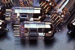 电子历史记录老电子管 免版税图库摄影