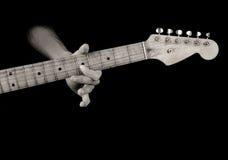 电子吉他老使用 库存照片