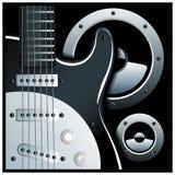 电子吉他和扬声器系统 免版税图库摄影