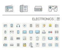 电子和多媒体颜色传染媒介象 库存照片