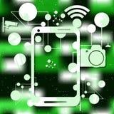 电子和技术的概念 向量 免版税库存图片