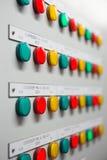 电子和控制系统的展示状况的信号灯显示 图库摄影