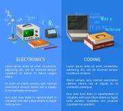 电子和编制程序教训增进海报 图库摄影