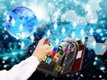 电子商务。互联网 免版税库存图片