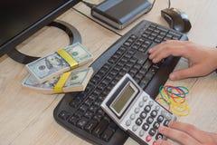 电子商务想法挣金钱 做金钱容易网上 免版税库存图片