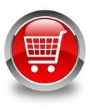 电子商务象光滑的红色圆的按钮 免版税图库摄影