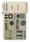 电子回收的老计算机 免版税库存照片