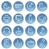 电子图标项目 免版税图库摄影