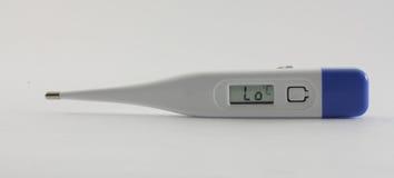 电子塑料温度计 库存图片