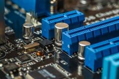 电子工程师芯片,计算机处理器技术 微集成电路计算机cpu硬件,打印的数字式主板组分 库存图片