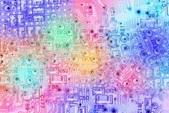电子抽象背景的电路 免版税库存图片