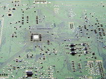 电子抽象背景的电路 免版税库存照片