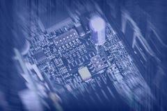 电子抽象计算机背景 免版税库存照片