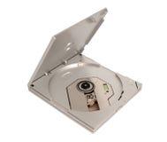电子收藏-便携式外在亭亭玉立的CD DVD驱动 免版税图库摄影