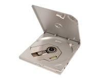 电子收藏-便携式外在亭亭玉立的CD DVD驱动 免版税库存照片