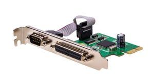 电子收藏-计算机数字式输入/输出口岸卡片 免版税库存照片