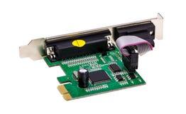 电子收藏-计算机数字式输入/输出口岸卡片 图库摄影