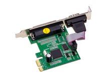 电子收藏-计算机数字式输入/输出口岸卡片 库存照片