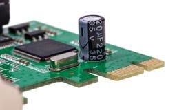电子收藏-计算机数字式输入/输出口岸卡片 免版税图库摄影