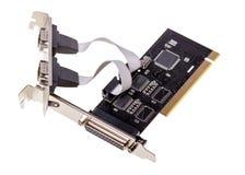 电子收藏-计算机数字式输入-输出口岸卡片 免版税库存图片